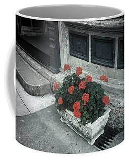 Coffee Mug featuring the photograph A Little Color In A Drab World by Rodney Lee Williams