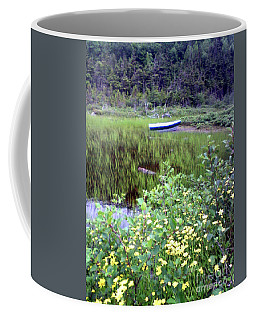 Coffee Mug featuring the photograph A Little Flat Awaiting by Barbara Griffin