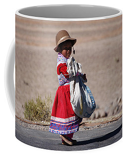 A Little Girl In The  High Plain Coffee Mug
