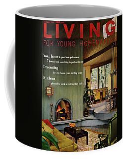 A Living Room With Sherwin-williams Wood-paneling Coffee Mug