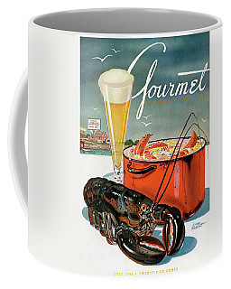 A Lobster And A Lobster Pot With Beer Coffee Mug by Henry Stahlhut