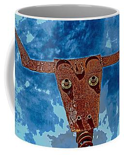 Coffee Mug featuring the photograph A Lucky Bull by Lynn Sprowl