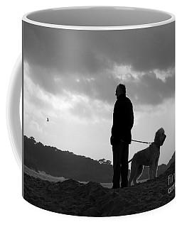 A Man A Dog And A Storm Coffee Mug