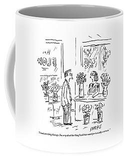 A Man Addressing A Florist Coffee Mug