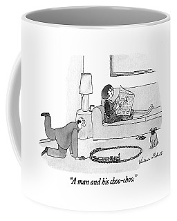 A Man And His Choo-choo Coffee Mug
