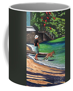 Coffee Mug featuring the painting A Man And His Dog by Laura Forde