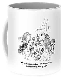 A Man And Woman Are Having A Romantic Dinner Coffee Mug