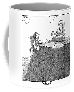 A Man Ascends A Mountain To Discover His Mother Coffee Mug