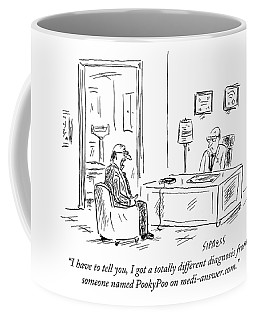 A Man Consults His Doctor About A Health Problem Coffee Mug