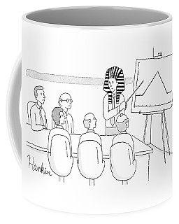 A Man In A Pharaoh Headdress Stands At The Front Coffee Mug