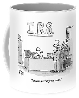 A Man Introduces A Lawyer To An Irs Agent Coffee Mug