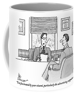 A Man Is Seen Speaking With Another Man Coffee Mug