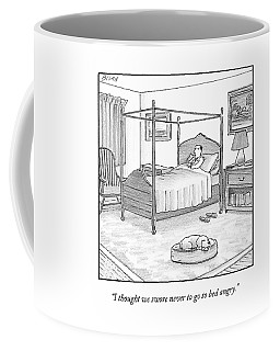 A Man Lies In Bed Coffee Mug