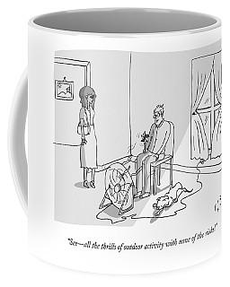 A Man Says To His Girlfriend While Sitting Coffee Mug
