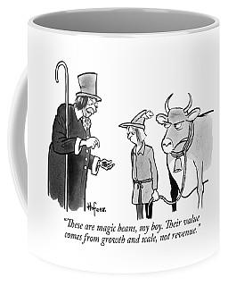 A Man Sells A Boy Leading A Cow  Beans -- Jack Coffee Mug