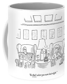 A Man Sits In A Living Room Coffee Mug