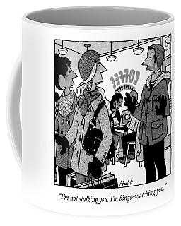 A Man Speaks To A Woman Coffee Mug
