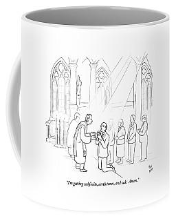 A Man To Priest As He Drinks The Wine Coffee Mug