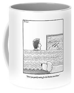 A Man Watches His Football Team Take Coffee Mug
