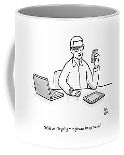A Man Wearing Google Glasses Coffee Mug