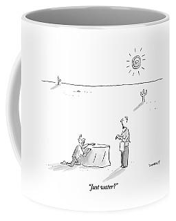A Man Who Has Been Crawling Through The Desert Coffee Mug