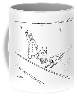 A Man Who Has Just Crawled Through The Desert Coffee Mug