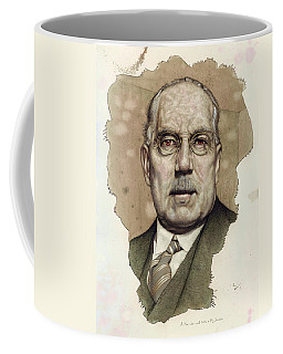 Coffee Mug featuring the painting A Man Who Used To Be A Big Cheese by James W Johnson