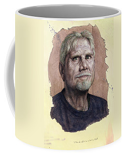Coffee Mug featuring the painting A Man Who Used To Be A Serious Artist by James W Johnson