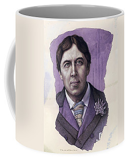 Coffee Mug featuring the painting A Man Who Used To Be A Warrior by James W Johnson