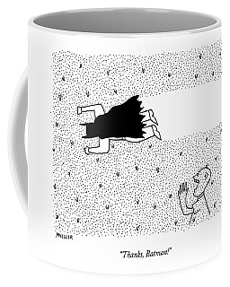 A Man Yells To Batman Who Is Eating Thousands Coffee Mug
