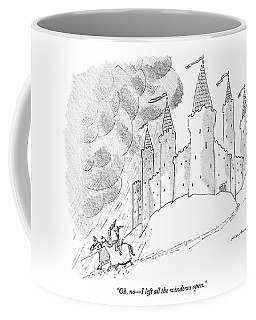A Medieval Man And Woman Ride Coffee Mug