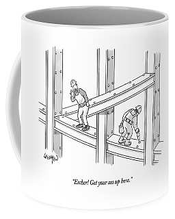 Escher Get Your Ass Up Here Coffee Mug