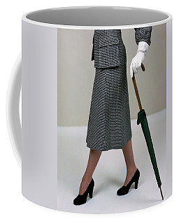 A Model Holding An Umbrella Coffee Mug