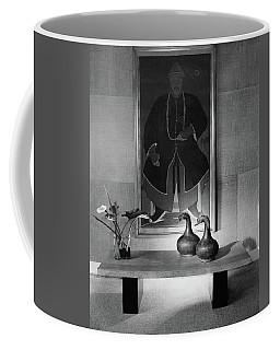 A Modern Table With An Oriental Painting Coffee Mug