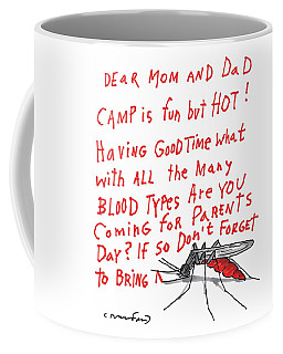 A Mosquito Writes In Blood A Letter Home Coffee Mug