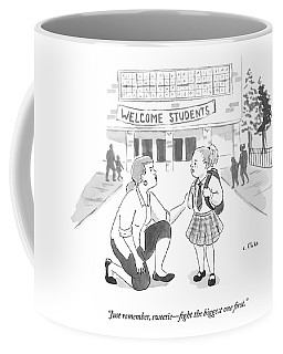 A Mother Advises Her Young Daughter On The First Coffee Mug
