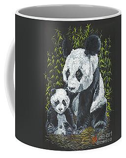 Coffee Mug featuring the painting A Mothers Devotion by Carol Wisniewski