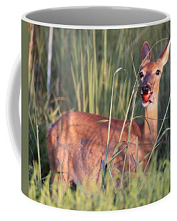 A Mouth Full Coffee Mug by Elizabeth Winter