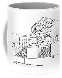 A Museum-like Building Is Dedicated To Breakfast Coffee Mug