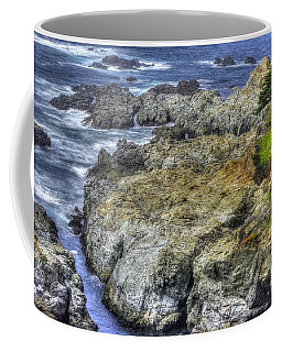 Coffee Mug featuring the photograph A Narrow Inlet - Big Sur Central California Coast Spring Mid-afternoon by Michael Mazaika