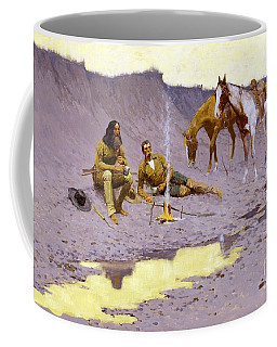 Coffee Mug featuring the painting A New Year On The Cimarron by Pg Reproductions