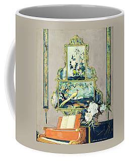A Painting Of A House Interior Coffee Mug