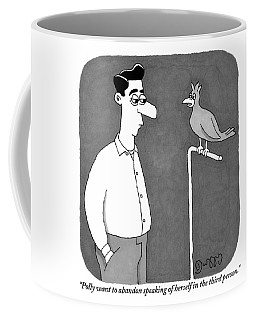 A Parrot Talks To Its Owner Coffee Mug