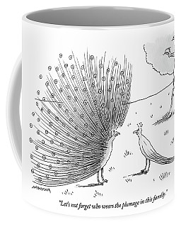 A Peacock With A Massive Coat Yells Coffee Mug