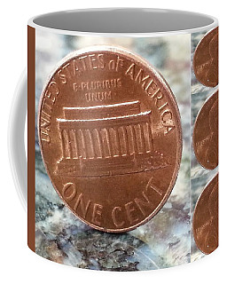 Coffee Mug featuring the photograph A Penny For Your Thoughts by Emmy Marie Vickers
