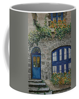 Coffee Mug featuring the painting A Picturesque Corner Of France by Betty-Anne McDonald