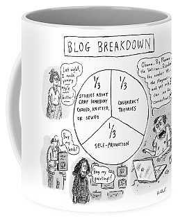 A Pie Chart Titled Blog Breakdown Is Divided Coffee Mug