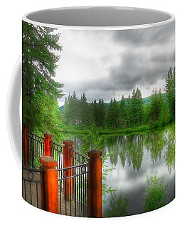 A Place By The Lake Coffee Mug by Nicola Nobile