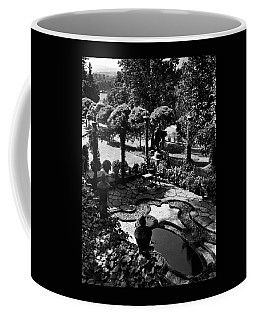 A Pond In An Ornamental Garden Coffee Mug
