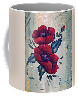 Coffee Mug featuring the painting A Poppy Pair by Betty-Anne McDonald